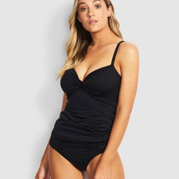 Seafolly Gathered Front Retro