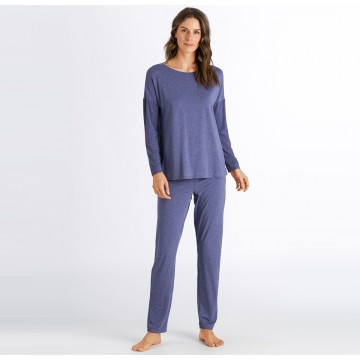 Hanro Natural Elegance Long Sleeve Pajama Set