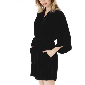 Christine Velvet Short Robe
