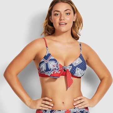 Seafolly Bandana Bay Fixed Tri Bikini Top